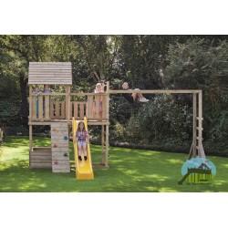 Klimrek- en schommelaanbouw voor speeltoren Sjoerd