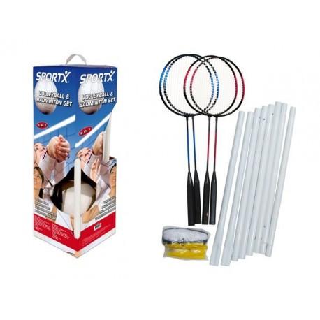 Badminton/volleybal set