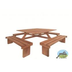 Picknicktafel vierkant hradhout
